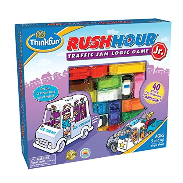 Thinkfun Rush Hour Junior - Traffic Jam Logic Game (2nd Edition) Board Game