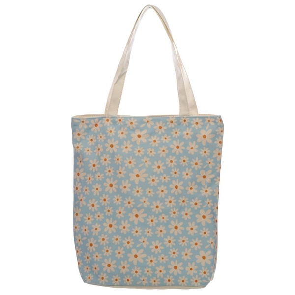 Oopsie Daisy Cotton Bag with Zip and Lining