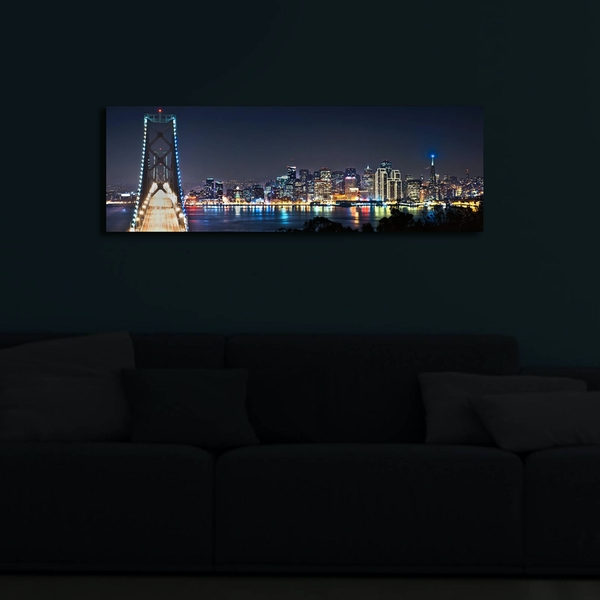 3090?ACT-37 Multicolor Decorative Led Lighted Canvas Painting