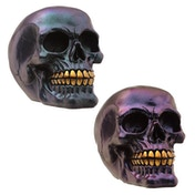 Gothic Metallic Skull Decoration (1 Random Supplied)