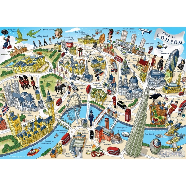 This is London Jigsaw Puzzle - 500 Pieces