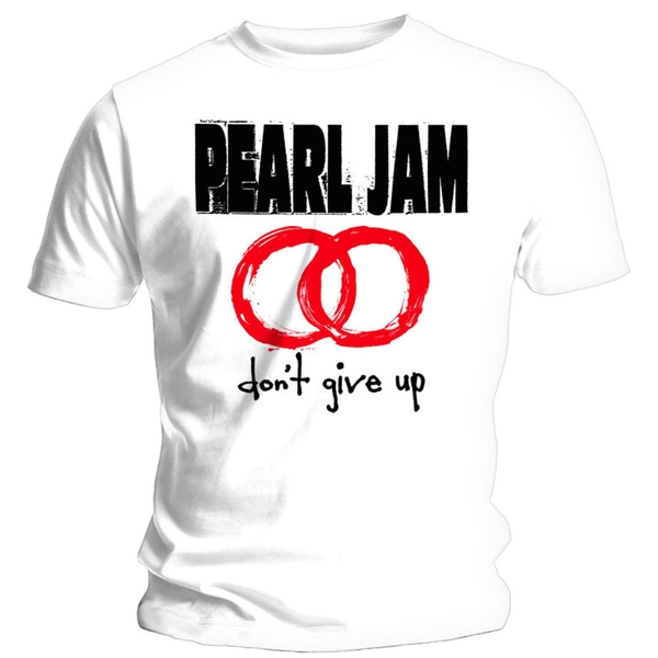 Pearl Jam - Don't Give Up Unisex Large T-Shirt - White