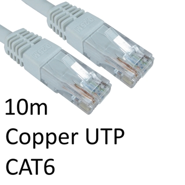 RJ45 (M) to RJ45 (M) CAT6 10m White OEM Moulded Boot Copper UTP Network Cable - Image 1