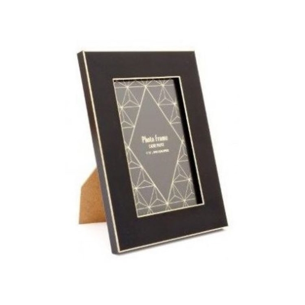 Black and Gold Trim Picture Frame | 4x6