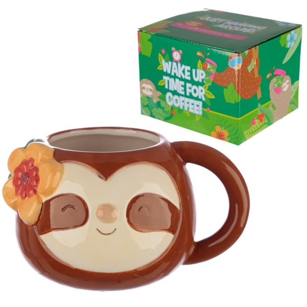 Ceramic Novelty Sloth Shaped Mug