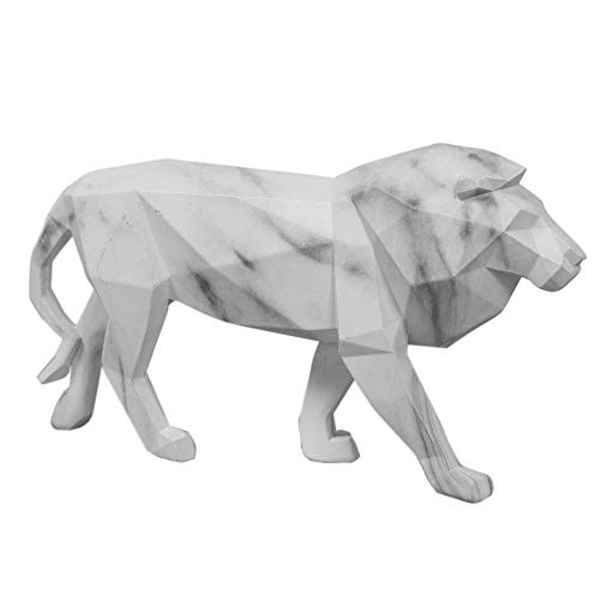 Marble Effect Figurine - Lion