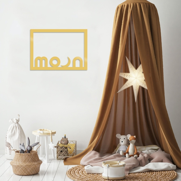 Moon - Gold Gold Decorative Metal Wall Accessory