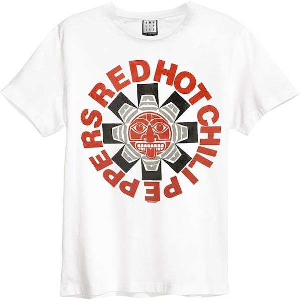Red Hot Chili Peppers - Aztec Unisex Small T-Shirt - White