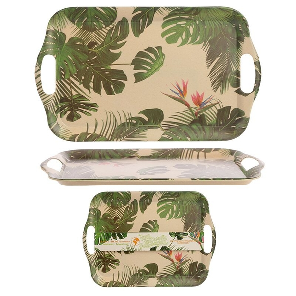 Cheese Plant Design Tray Bambootique Eco Friendly