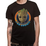 Guardians Of The Galaxy 2 - Groot Circle Medium T-Shirt - Black