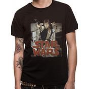 Star Wars - Han Retro Badge Men's X-Large T-Shirt - Black