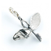 Sterling Silver Flying Key with broken wing Clip on Charm
