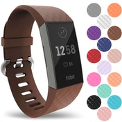 YouSave Fitbit Charge 3 Silicone Strap - Large - Brown