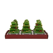 Set of 6 Christmas Tree Shaped Candles