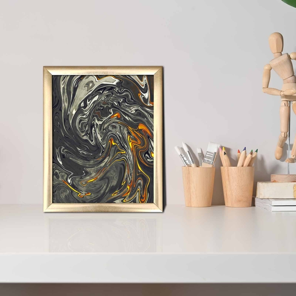 ACT-001 Multicolor Decorative Framed MDF Painting