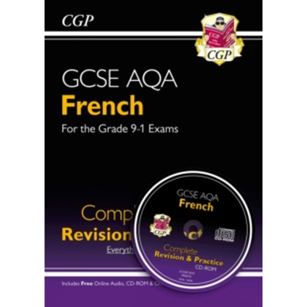 New GCSE French AQA Complete Revision & Practice (with CD & Online Edition) - Grade 9-1 Course by CGP Books (Paperback, 2016)