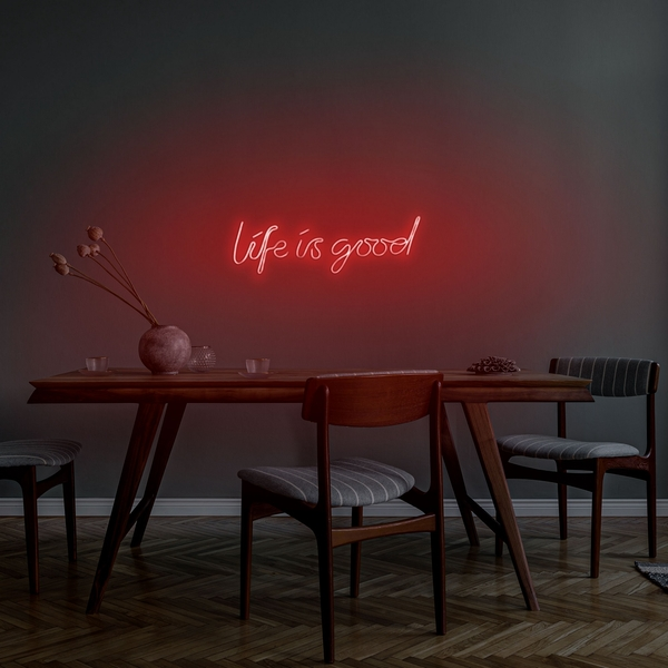 Life Is Good - Red Red Wall Lamp