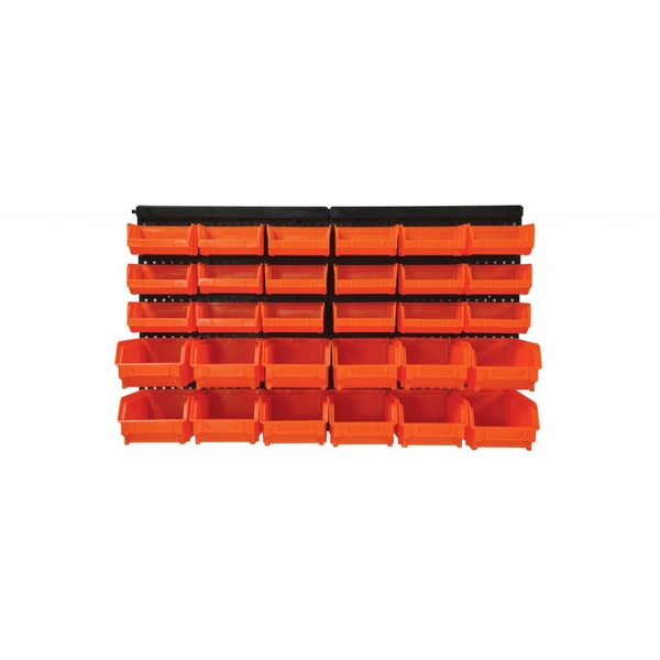 Mercury | Wall Mounted Storage Bin Organiser
