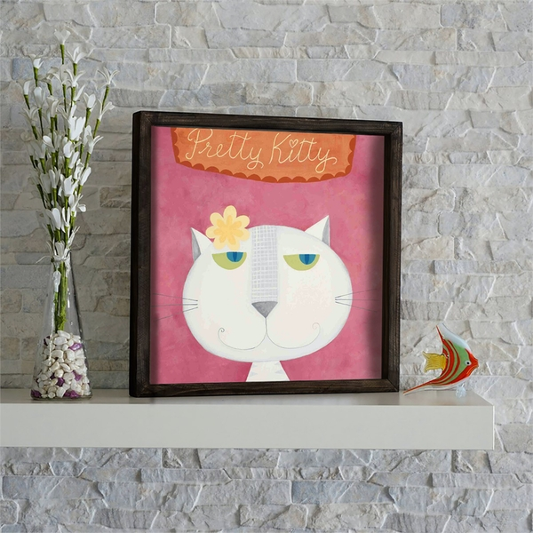 KZM563 Multicolor Decorative Framed MDF Painting