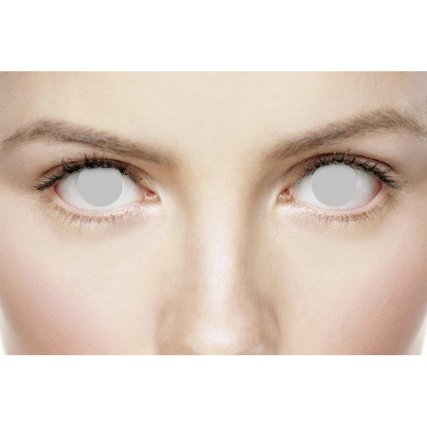 Blind Grey 1 Day Halloween Coloured Contact Lenses (MesmerEyez XtremeEyez)