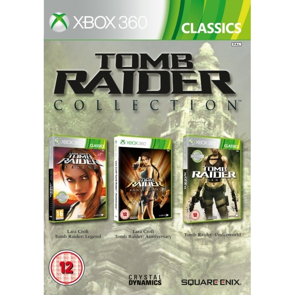 Tomb Raider Legend & Anniversary & Underworld Collection (Classics) Game Xbox 360