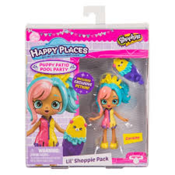Shopkins - Happy Places Sseason 4 Coralee Doll - Puppy Patio Pool Party Playset