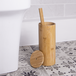 Bamboo Toilet Brush & Holder | M&W Round - Image 2