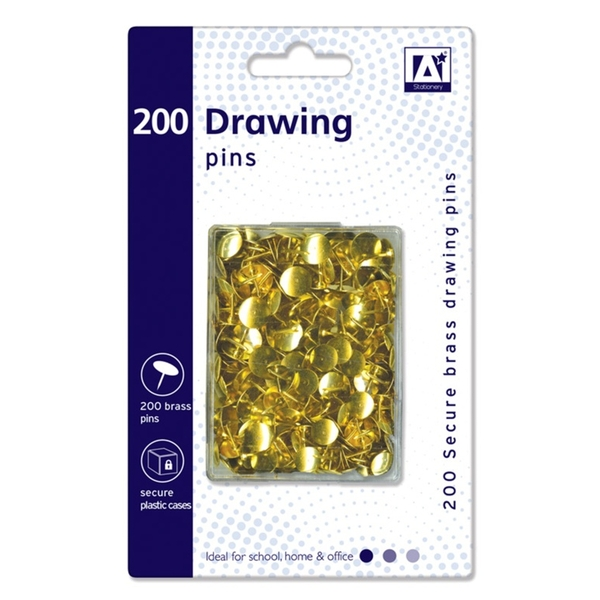 Anker Drawing Pins In Hardcase Pack 200