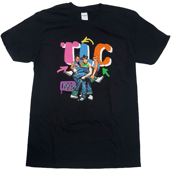 TLC - Kicking Group Unisex Small T-Shirt - Black