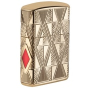 Zippo Luxury Diamond Design Armor Deep Carve Lighters