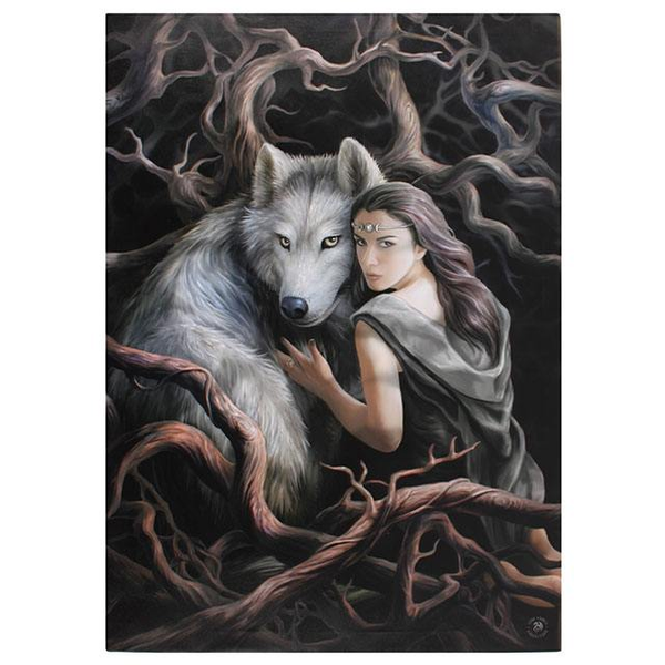 Large Soul Bond Canvas Picture by Anne Stokes