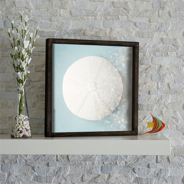 KZM567 Brown Mint White Grey Decorative Framed MDF Painting