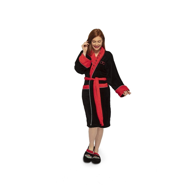 Friends Ladies Central Perk Black/Red No Hood Adult - One Size