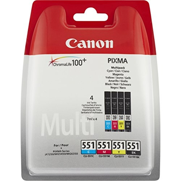 CANON CLI-551 Photo Value Blister Ink Cartridge - Assorted