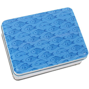Fish Print Metal Tin