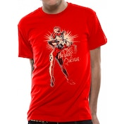 DC Originals - Retro Harley Men's Small T-Shirt - Red
