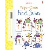 Wipe Clean: First Sums by Jessica Greenwell (Paperback, 2013)