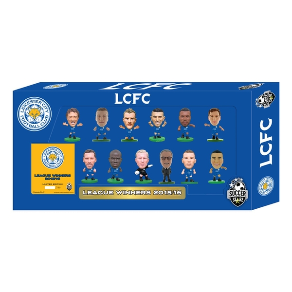 SoccerStarz Leicester Premier League Winners 2015-16 Team Pack Limited Edition