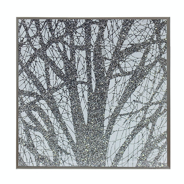 Silver Glass Woodland Set Of 4 Coasters By Lesser & Pavey