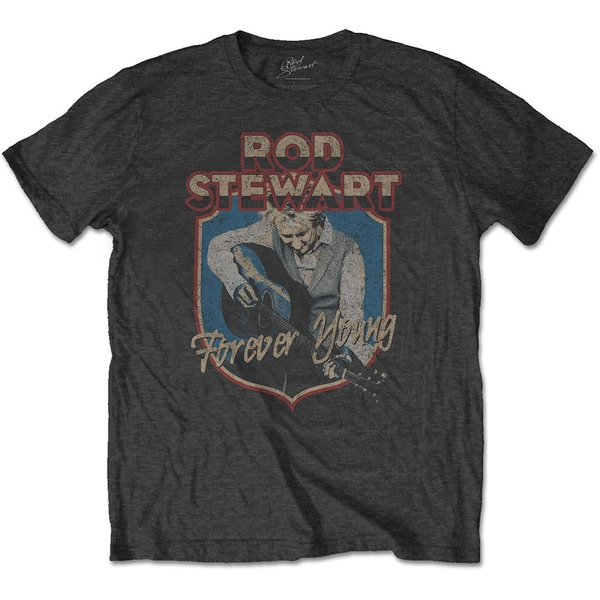 Rod Stewart - Forever Crest Men's X-Large T-Shirt - Charcoal Grey