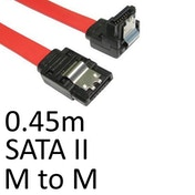 Locking SATA II (M) to Right-Angled Locking SATA II (M) 0.45m Red OEM Internal Data Cable