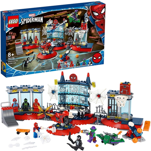 Lego Super Heroes Attack on the Spider Lair Construction Set