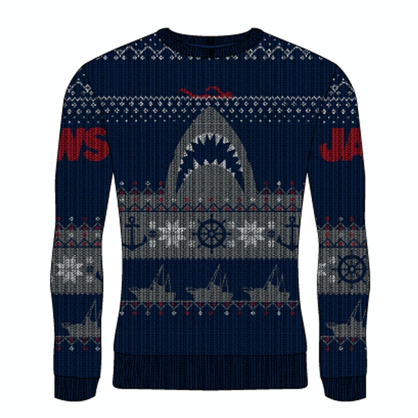 Image of Jaws - Shark Unisex Small Knitted Jumper - Multi-Colour