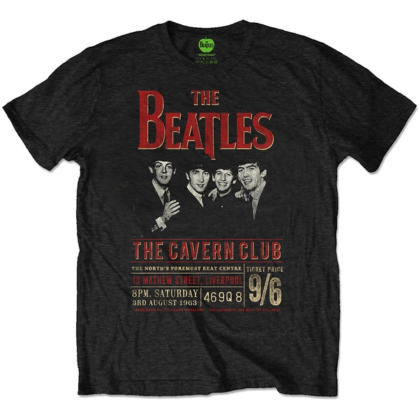 The Beatles - Cavern '63 Unisex Large T-Shirt - Black