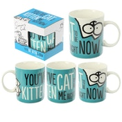 Simon's Cat Kitten Slogan New Bone China Mug