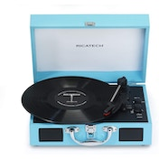 RTT21 Turntable, Lightweight Portable Record Player With Speakers (Blue) UK Plug