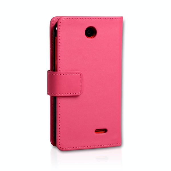 YouSave Accessories HTC Desire 310 Leather-Effect Wallet Case - Hot Pink - Image 2