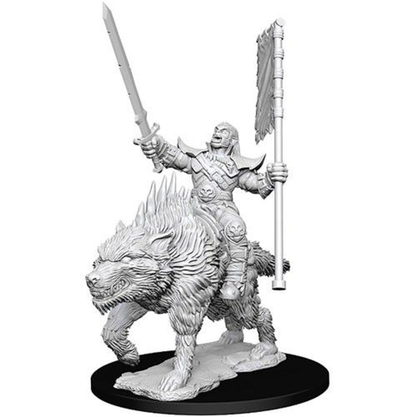 Pathfinder Battles Deep Cuts Unpainted Miniatures (W7) Orc on Dire Wolf