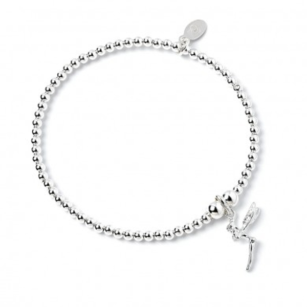 Fairy Charm with Sterling Silver Ball Bead Bracelet