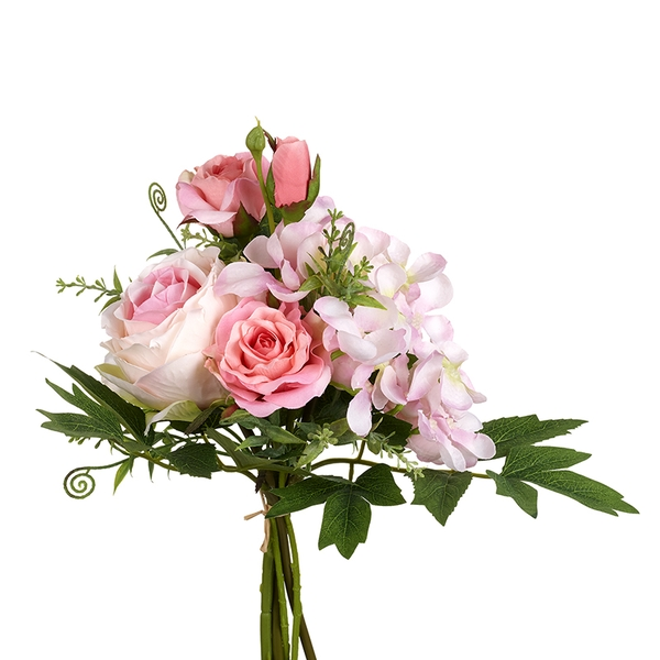 Pink Rose Bunch Artificial Flowers By Heaven Sends